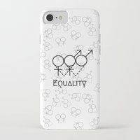 equality iPhone & iPod Cases featuring Marriage Equality by Purshue feat Sci Fi Dude