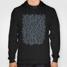 Blue & White Berry Branches Hoody