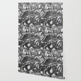 Abstract #8 - V - Black & White Wallpaper