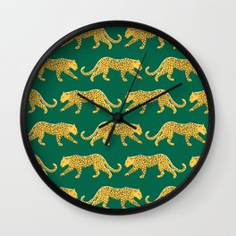 The New Animal Print - Emerald Wall Clock