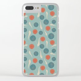 Dandelions dancing in the wind Clear iPhone Case