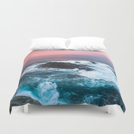 Sunset on the Bay of Biscay Duvet Cover