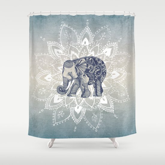 Elephant Mandala Shower Curtain By Rskinner1122
