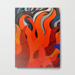 Battle of the Elements: Fire Metal Print