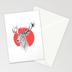 Deer | red Stationery Cards