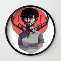 will graham Wall Clocks featuring Will Graham by nucleir
