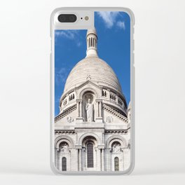 Sacre Coeur on Montmartre hill Clear iPhone Case