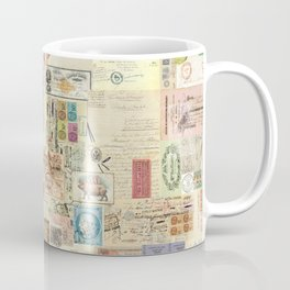 Quirky Documents pastel Patchwork Coffee Mug