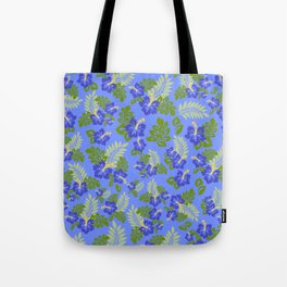 Hawaiian Pattern - Blue Tote Bag