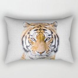 Tiger - Colorful Rectangular Pillow