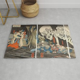 Takiyasha the Witch and the Skeleton Spectre Rug