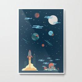 SPACE poster Metal Print