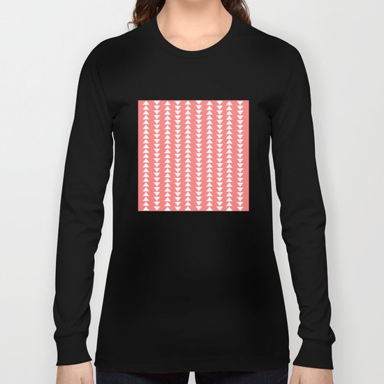 Tribal in Pink & White Long Sleeve T-shirt
