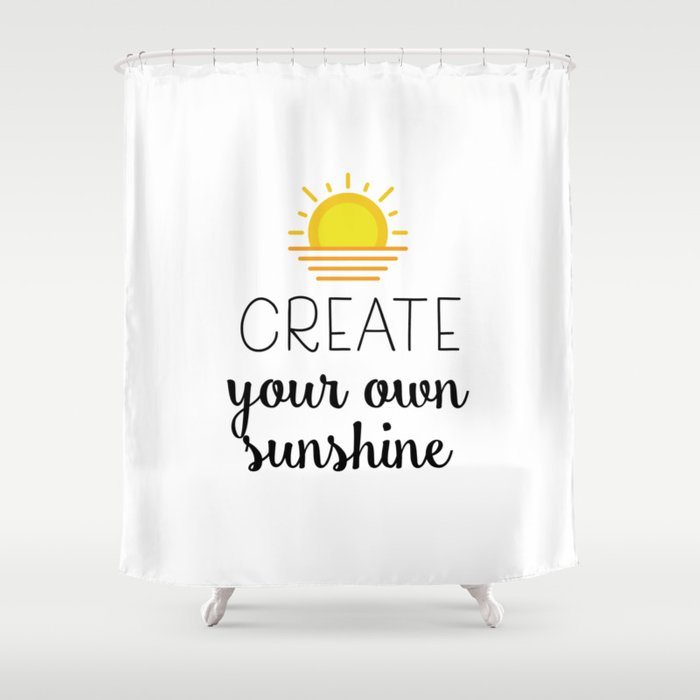 Create Your Own Sunshine Shower Curtain By Catmustache
