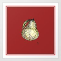 pear Art Prints featuring Pear by Ursula Rodgers