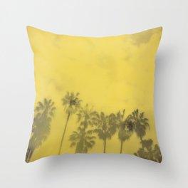 Yellow Palms Throw Pillow