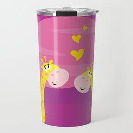 Valentine love giraffes Travel Mug