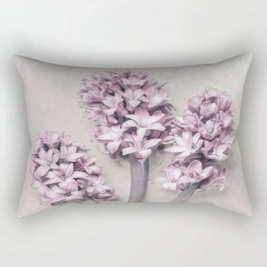 Beautiful Pink Hyacinths Rectangular Pillow