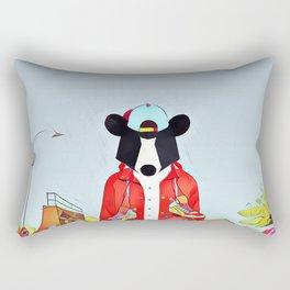 Bear in the skatepark Rectangular Pillow