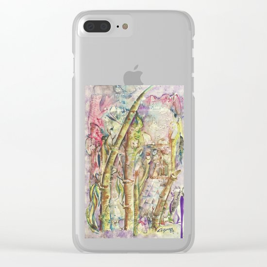 Bamboo Spirits Clear iPhone Case