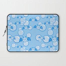 Bubbles and Bats Dark Blue Laptop Sleeve