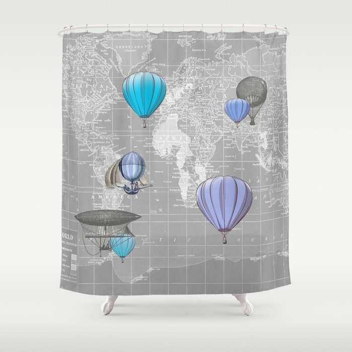 Travel the World Shower Curtain