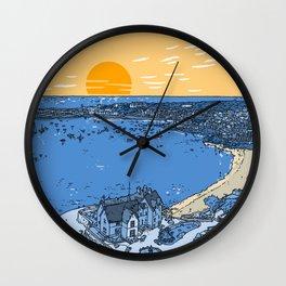 Cascais Bay-Portugal-Beach-Sunset-Landscape Wall Clock