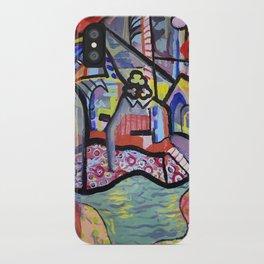 The Church at Auvers a la Mela iPhone Case