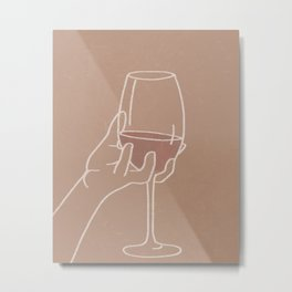Wine Aesthetic Metal Print