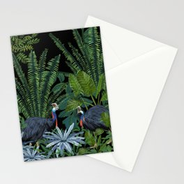 Cassowary in the jungle Stationery Cards