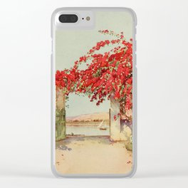 Cane, Ella du (1874-1943) - The Banks of the Nile 1913, A garden in Luxor Clear iPhone Case