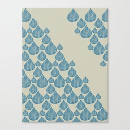 Blue drops Canvas Print
