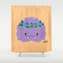 Purple Spoopy Has Forget Me Nots Shower Curtain