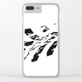 Single Tractor Tyre Mark Clear iPhone Case
