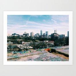 Austin City View Art Print