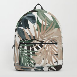 Tropical Jungle Leaves Pattern #13 (Fall Colors) #tropical #decor #art #society6 Backpack