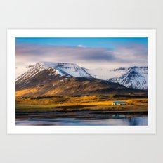 Icelandic View (RR135) Art Print