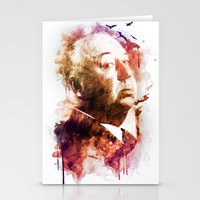 hitchcock Stationery Cards featuring ALFRED HITCHCOCK by Elizabeth Cakovan