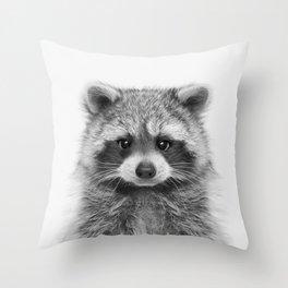 Raccoon Throw Pillow