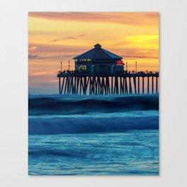 Ruby's Sunset on the Huntington Beach Pier ~ Surf City USA Canvas Print