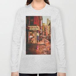 New York City Rain in Chinatown Long Sleeve T-shirt