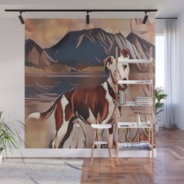 Hunting Dog by the Lake Wall Mural
