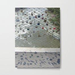 Graz Love Lockers Metal Print