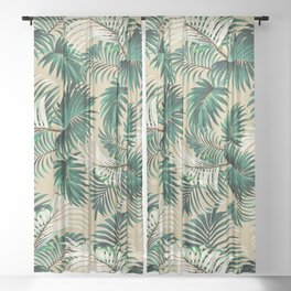 Tropical Jungle Sheer Curtain