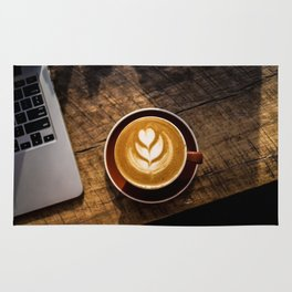 That Perfect Cup of Cappuccino Coffee Rug