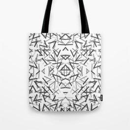 Black Thorns Pattern Tote Bag