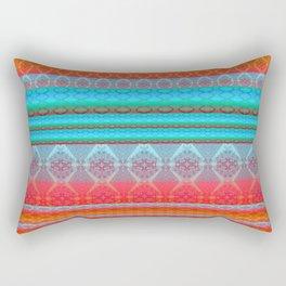 Soulful Sunset Dancing Mandala Lines Rectangular Pillow