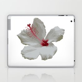 Pure White Hibiscus Tropical Flower Laptop & iPad Skin