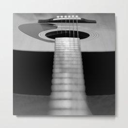 guitar music aesthetic close up elegant mood art photography  Metal Print
