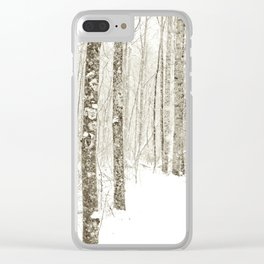 Wintry Mix Clear iPhone Case